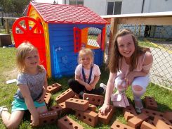 Outdoor activities with the Nursery children